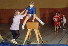 Bockspringen Sportunterricht